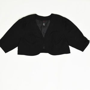 Torrid Plus 2 Black   Crop bLazer Rayon solid